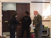 Davidson Police Officer Kanita Boone takes oath of office